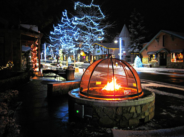 Winter Fire Pit