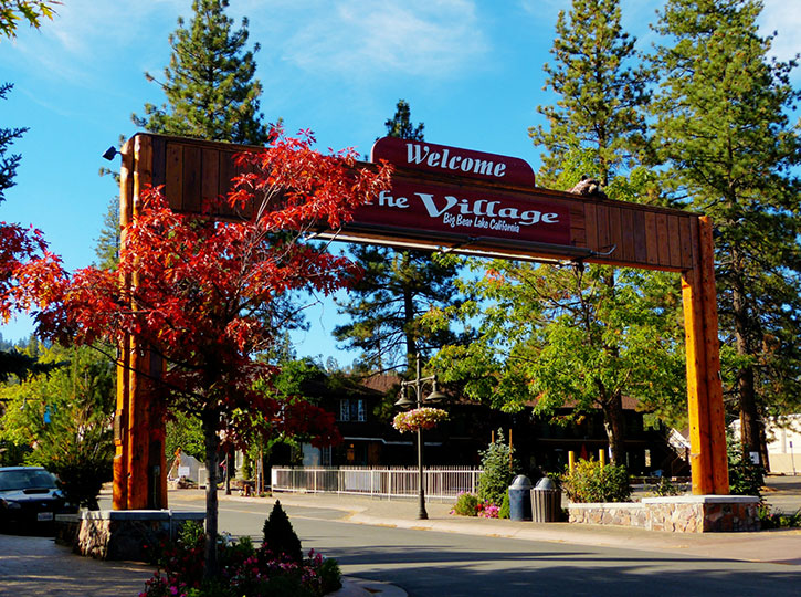 Village Sign in the Fall